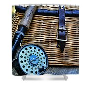 Fishing - Vintage Fly Fishing Shower Curtain