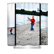 Fishing With Dad - Catch And Release Shower Curtain