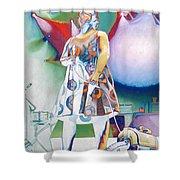 John Fishman And Vacuum Shower Curtain