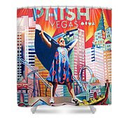 Fishman In Vegas Shower Curtain by Joshua Morton
