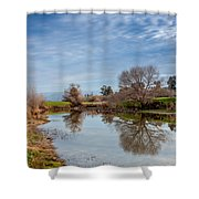 Fishng Hole Shower Curtain
