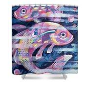 Fishstream Shower Curtain by Sarah Porter