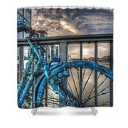 Fishy Bike Shower Curtain
