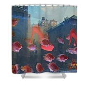 Fishy Shoes Shower Curtain