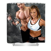 Fitness Couple 17-2 Shower Curtain