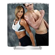 Fitness Couple 43 Shower Curtain