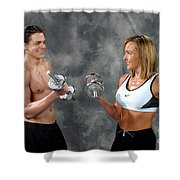 Fitness Couple 9 Shower Curtain