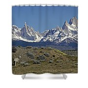 Fitz Roy Range In Springtime 2 Shower Curtain