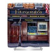 Fitzgeralds Pub - Dublin Ireland Shower Curtain