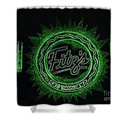 Fitz's In Green Neon  Shower Curtain