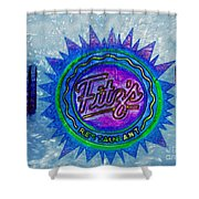 Fitz's Inverted With A Splash Shower Curtain