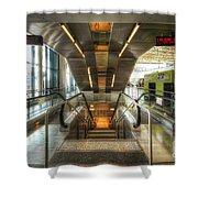 Fiumicino Airport Escalator Shower Curtain