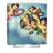 Five Angels Shower Curtain