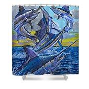 Five Billfish Off00136 Shower Curtain by Carey Chen