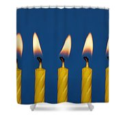 Five Candles Burning Shower Curtain