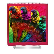 Five Card Monty Shower Curtain