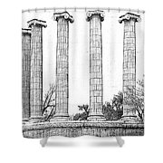 Five Columns Sketchy Shower Curtain