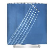 Five F-16 Fighting Falcons Reaching For Some Sky Shower Curtain