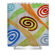 Five Forces Shower Curtain