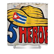 Five Heroes Cuba Shower Curtain