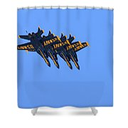 Four Hornets In Close Trail Shower Curtain