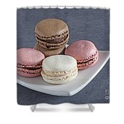 Five Macaroons Shower Curtain