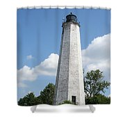 Five Mile Point Lighthouse Shower Curtain