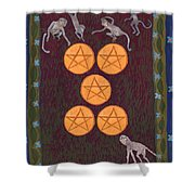 Five Of Pentacles Shower Curtain