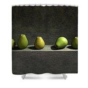 Five Pears Shower Curtain by Cynthia Decker