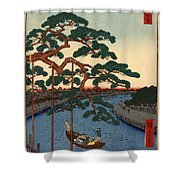 Five Pines Onagi Canal Shower Curtain