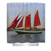 Five Red Sails Shower Curtain