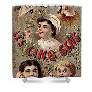 Five Senses Represented By Five Children C1900 Shower Curtain