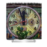 Five To Twelve Shower Curtain