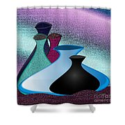 Five Vases Shower Curtain