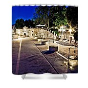 Five Well Square In Zadar Evening View Shower Curtain