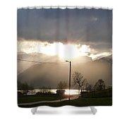 Fjord Sunset Shower Curtain