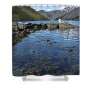Fjord To The Sky Shower Curtain