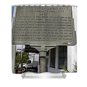 Fl-1020 Site Of First Ybor City Railroad Station 1887 Shower Curtain
