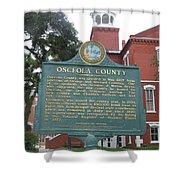 Fl-f304 Osceola County Shower Curtain