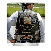Fla Post 4143 Vfw Rider Color Usa Shower Curtain