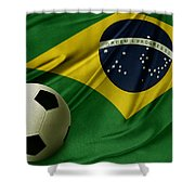 Flag And Ball Shower Curtain