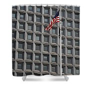 Flag And Windows Shower Curtain
