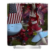 Flag Bike Shower Curtain