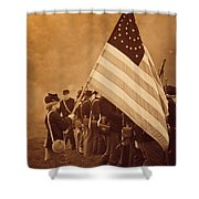 Flag Carrier Shower Curtain