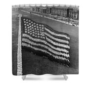 Flag Formation, C1917 Shower Curtain