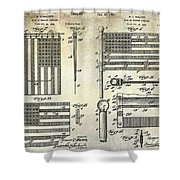 1927 Flag Spreader Patent Drawing Shower Curtain