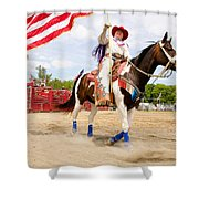 Flag Lady Shower Curtain