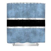 Flag Of Botswana Shower Curtain