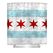 Flag Of Chicago Shower Curtain