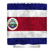 Flag Of Costa Rica Shower Curtain